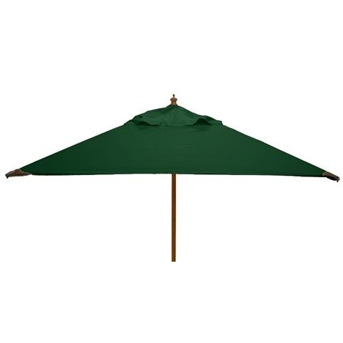 Glencrest Sturdi Plus FSC Eucalyptus Square Parasol with Pulley in Green - W2m