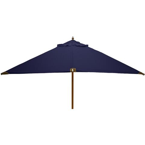 Glencrest Sturdi Plus FSC Eucalyptus Square Parasol with Pulley in Blue - W2.5m