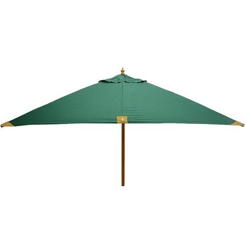 Glencrest Sturdi Plus FSC Eucalyptus Square Parasol with Pulley in Green - W2.5m