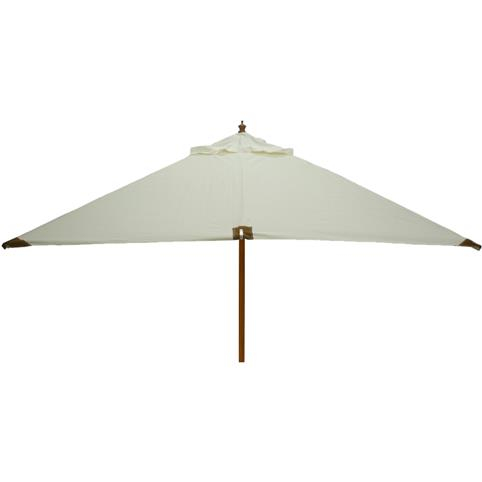 Glencrest Sturdi Plus FSC Eucalyptus Square Parasol with Pulley in Natural - W3m