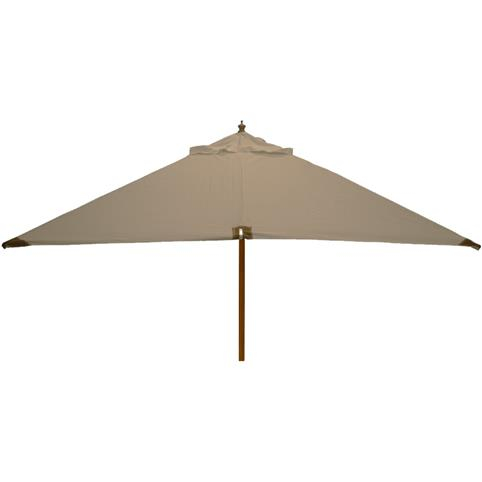 Glencrest Sturdi Plus FSC Eucalyptus Square Parasol with Pulley in Taupe - W3m
