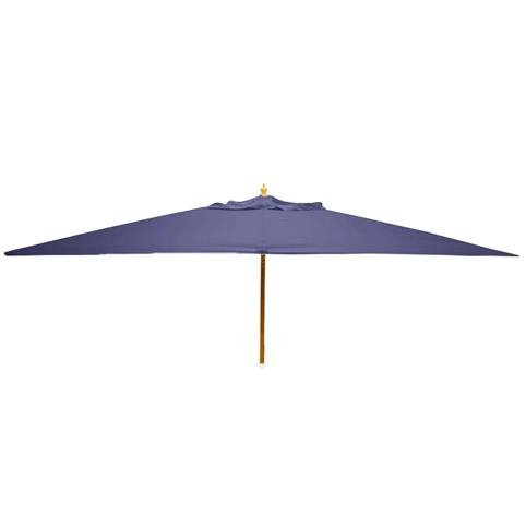 Glencrest Sturdi Plus FSC Eucalyptus Rectangular Parasol with Pulley in Blue - L3m x W2m