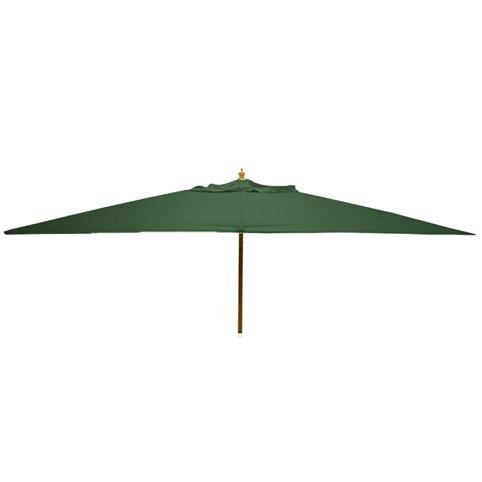 Glencrest Sturdi Plus FSC Eucalyptus Rectangular Parasol with Pulley in Green - L3m x W2m
