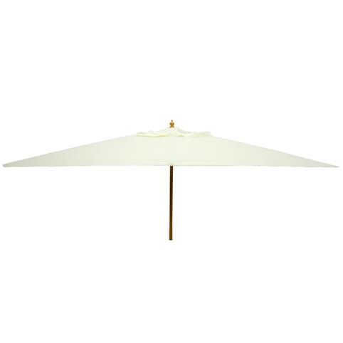 Glencrest Sturdi Plus FSC Eucalyptus Rectangular Parasol with Pulley in Natural - L3m x W2m