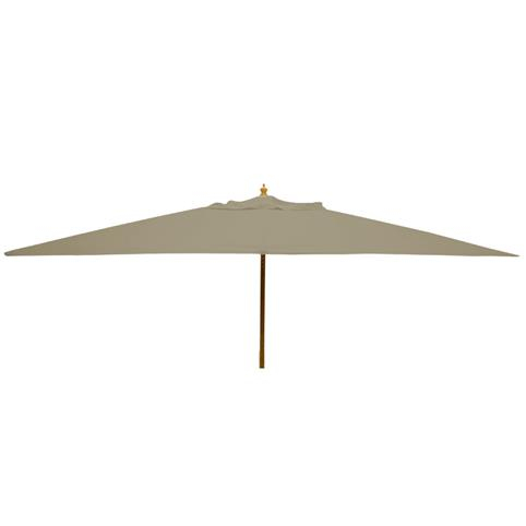 Glencrest Sturdi Plus FSC Eucalyptus Rectangular Parasol with Pulley in Taupe - L3m x W2m