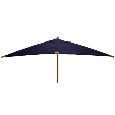 Glencrest Sturdi Plus FSC Eucalyptus Rectangular Parasol with Pulley in Blue - L4m x W3m