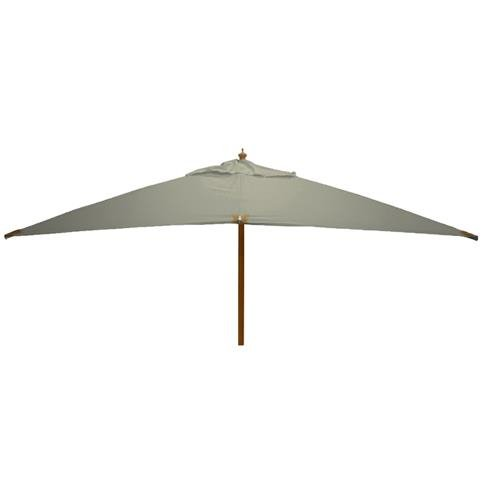 Glencrest Sturdi Plus FSC Eucalyptus Rectangular Parasol with Pulley in Taupe - L4m x W3m