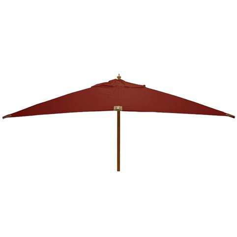 Glencrest Sturdi Plus FSC Eucalyptus Rectangular Parasol with Pulley in Sunset Terracotta - L4m x W3m