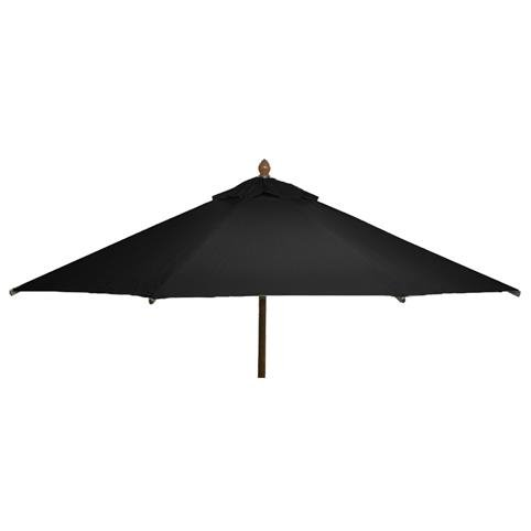 Glencrest Sturdi Plus FSC Eucalyptus Round Parasol with Pulley in Black - W3m