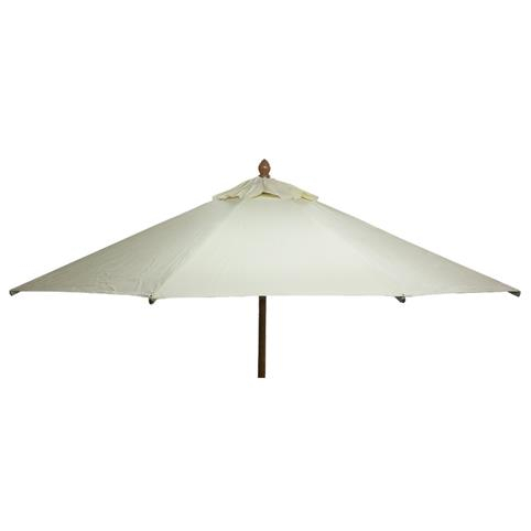Glencrest Sturdi Plus FSC Eucalyptus Round Parasol with Pulley in Natural - W3m