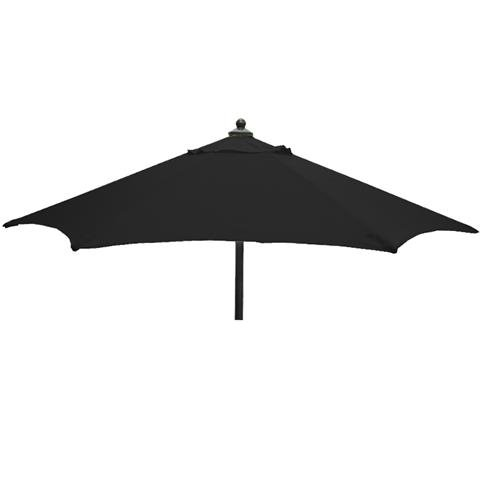 Glencrest Aluminium Sturdi Plus Round Push Up Parasol in Black - W2m
