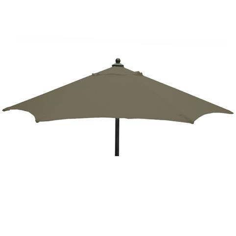 Glencrest Aluminium Sturdi Plus Round Push Up Parasol in Taupe - W2m