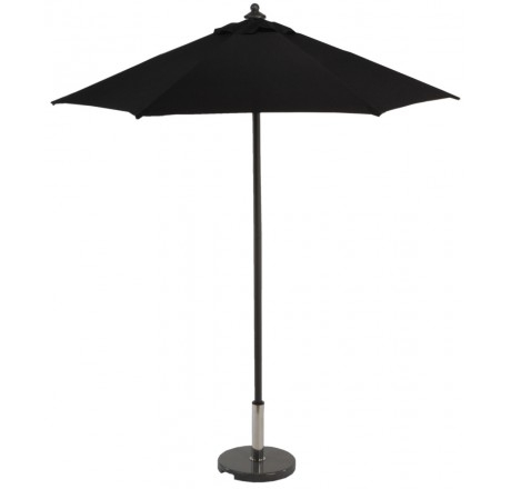 Glencrest Aluminium Sturdi Plus Square Push Up Parasol in Black - W2m