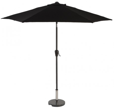 Glencrest Aluminium Sturdi Plus Round Crank Parasol in Black - W2.5m