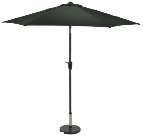 Glencrest Aluminium Sturdi Plus Round Crank Parasol in Green - W2.5m