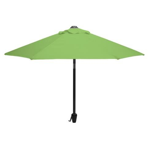 Glencrest Aluminium Sturdi Plus Round Crank Parasol in Lime Green - W2.5m