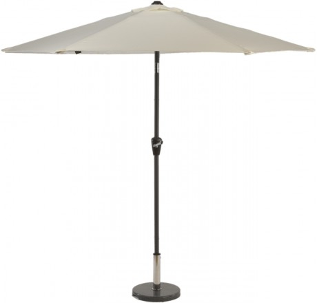 Glencrest Aluminium Sturdi Plus Round Crank Parasol in Natural - W2.5m