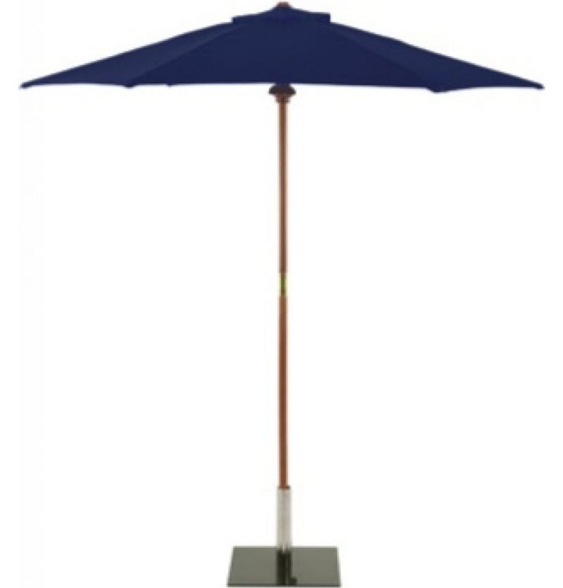 Glencrest Aluminium Sturdi Plus Rectangular Crank Parasol in Blue - L3m x W2m