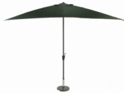 Glencrest Aluminium Sturdi Plus Rectangular Crank Parasol in Green - L3m x W2m