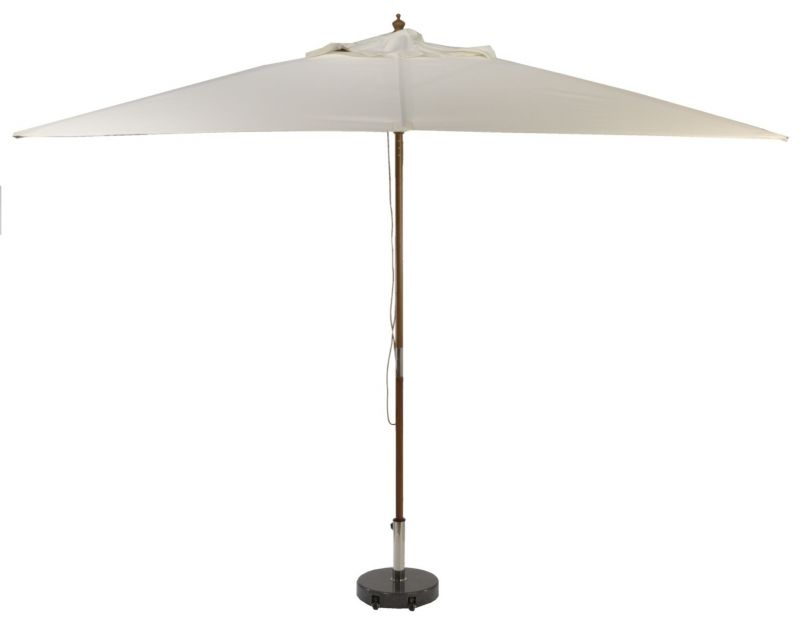 Glencrest Aluminium Sturdi Plus Rectangular Crank Parasol in Natural - L3m x W2m