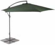 Glencrest Aluminium Cantilever Sturdi Plus Square Crank Parasol in Green - W3m