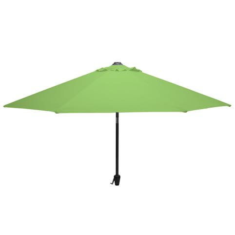 Glencrest Aluminium Cantilever Sturdi Plus Square Crank Parasol in Lime Green - W3m