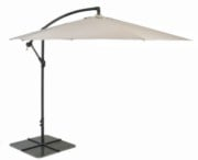 Glencrest Aluminium Cantilever 'Sturdi Plus' Crank Parasol in Natural - W3m