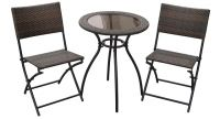 Milano Wicker Bistro Folding Set