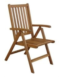 Acacia Manhattan Reclining Garden Chairs - Set of 2