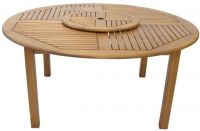 Eucalyptus Torino 150cm Round Garden Table with Lazy Susan