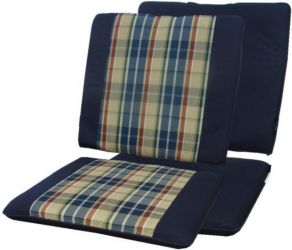 Paris Blue Seat and Back Rest Chair Cushions
