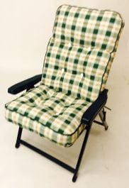 Tivoli Super Deluxe Recliner Chair in Pavia Check W69cm x L128cm