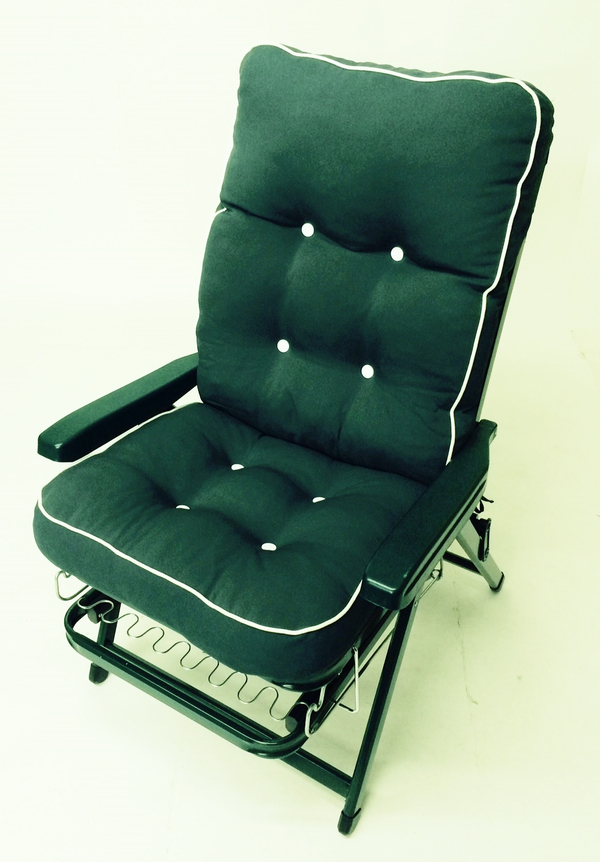 Tivoli Super Deluxe 3 in 1 Reclining Lounger in Hunter Green - W69cm x L184cm
