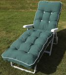 Maui Deluxe Reclining Sun Bed in Hunter Green W66cm x L185cm