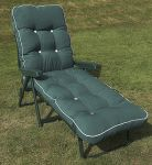 Maui Deluxe Reclining Sun Bed in Green and Hunter Green W66cm x L185cm