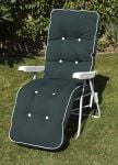 Milan Deluxe Automatic Relaxer in White and Hunter Green W60cm x L157cm