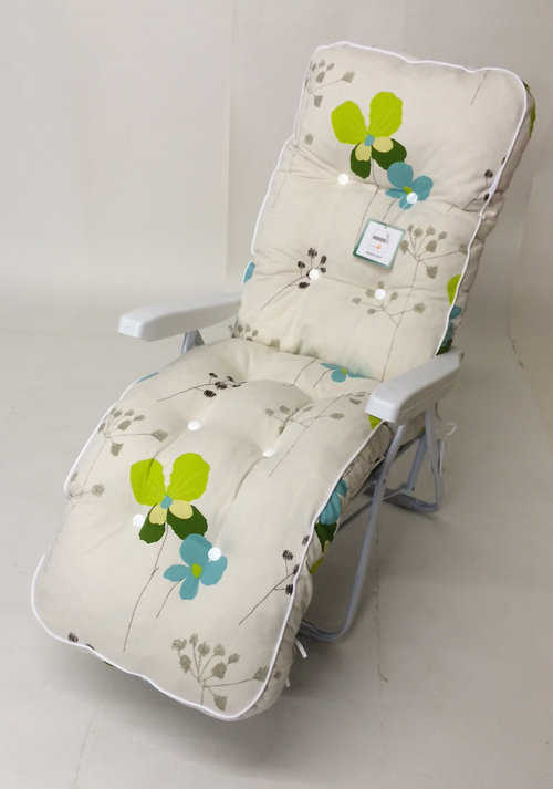 Milan Deluxe Automatic Relaxer in White and Summer Breeze Floral W60cm x H157cm