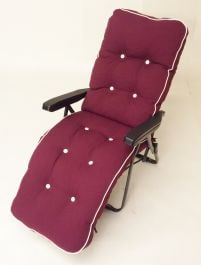 Milan Deluxe Automatic Relaxer in Grey and Bordeaux Red W60cm x L157cm