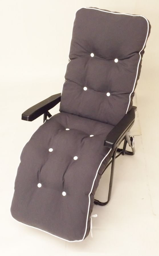 Milan Deluxe Automatic Relaxer in Grey and Charcoal Grey W60cm x L157cm
