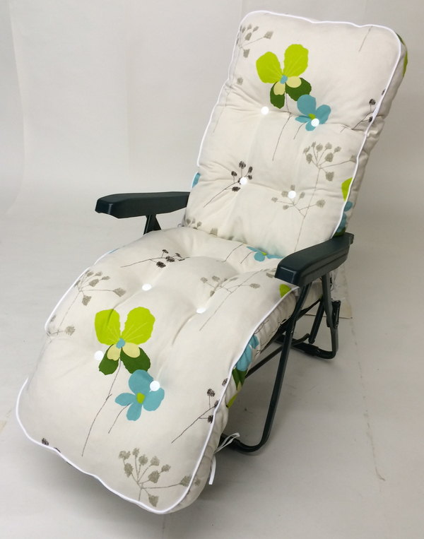 Milan Deluxe Automatic Relaxer in Green and Summer Breeze Floral W60cm x L157cm
