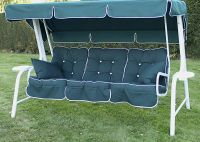 Lord Deluxe 4 Seater Swinging Hammock in White and Hunter Green W262cm x D123cm