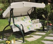 Lord Deluxe 4 Seater Swinging Hammock in Forest Green and Summer Breeze Floral W262cm x D123cm