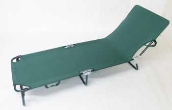 Brandine Folding Ratchet Sun Bed in Green W60cm x L180cm