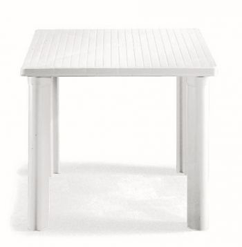 SCAB Elle Square Resin Table in White W80cm