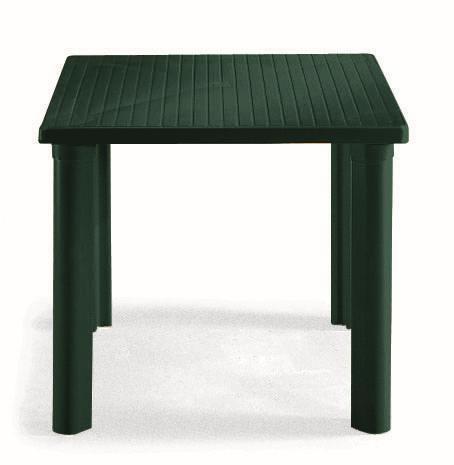 SCAB Elle Square Resin Table in Forest Green W80cm