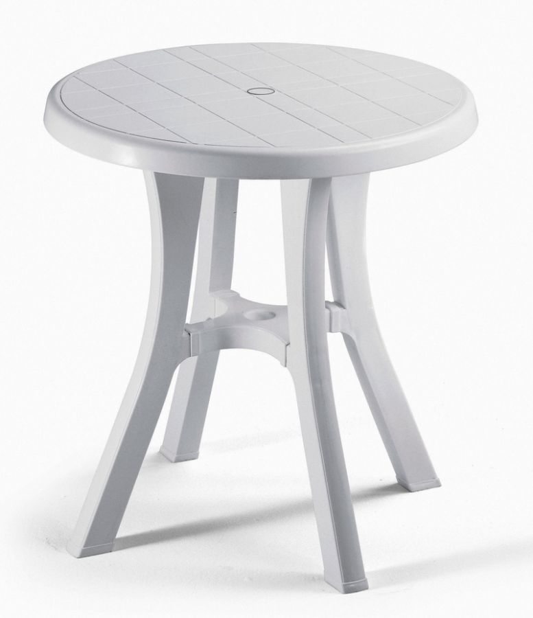 SCAB Pol 70cm Round Resin Bistro Table in White
