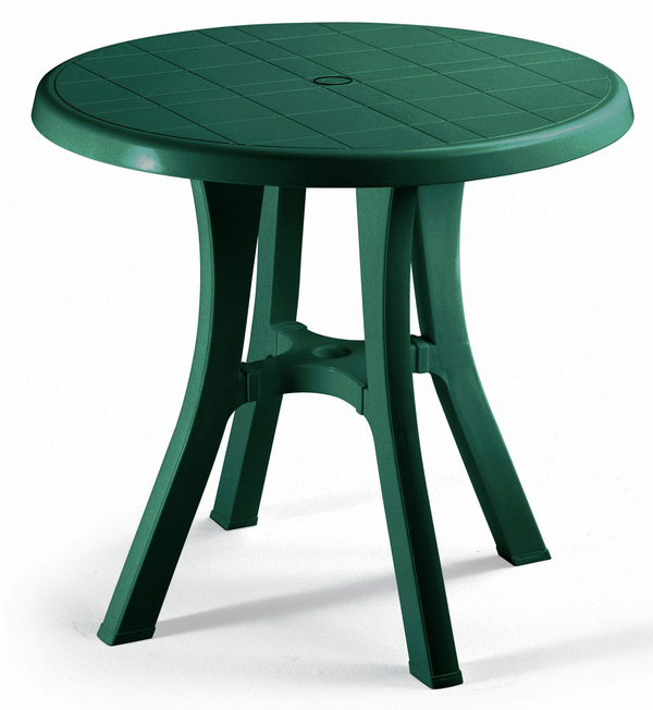 SCAB Pol 70cm Round Resin Bistro Table in Forest Green