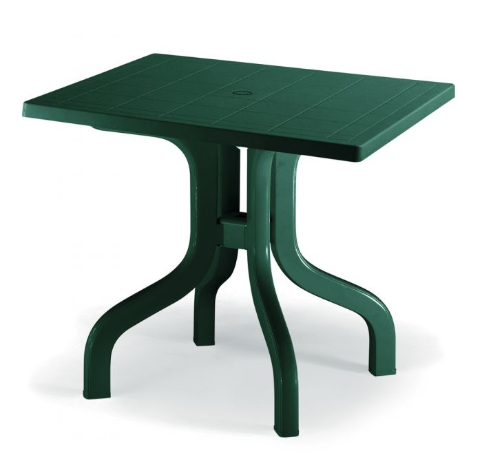 SCAB Ribalto Square Folding Resin Table 80cm in Forest Green