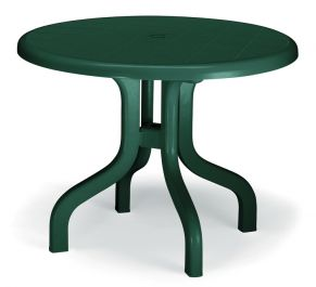 SCAB Ribalto Round Folding Resin Table 95cm in Forest Green