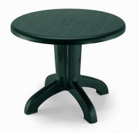 SCAB Daytona Round Resin Table 95cm in Forest Green
